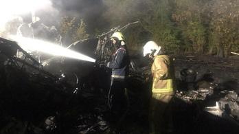 Jó látási viszonyok között csapódott a földbe az ukrán katonai repülőgép