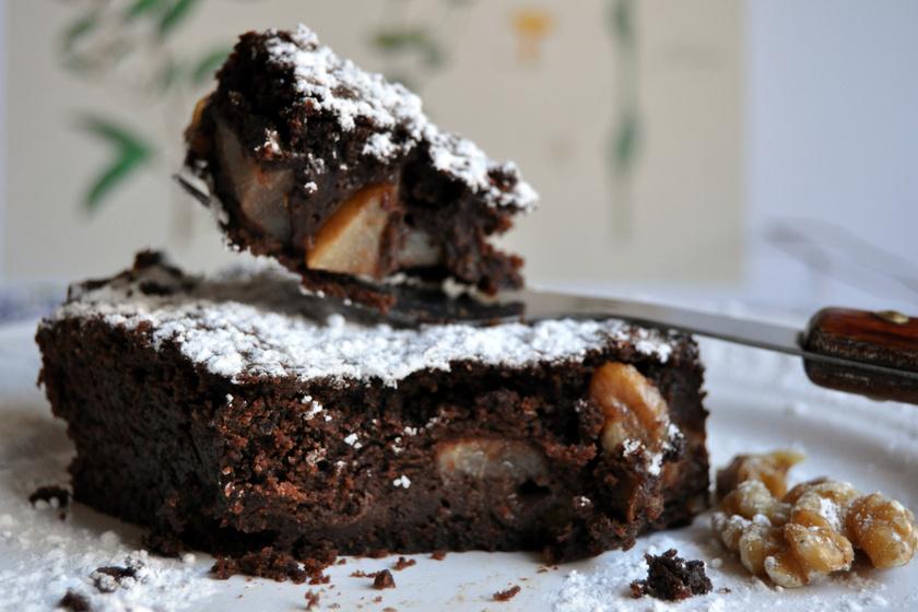 Mennyei körtés brownie: szinte szétolvad a szádban