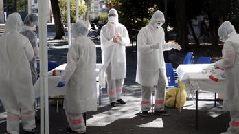 Egy hete tízezer fölött van az új koronavírusos esetek száma Franciaországban