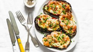 Fűszeres mozzarellás padlizsán csicseriborsóval – keleti hangulat hús nélkül