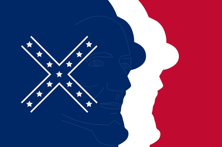 A Mississippi Ku-Klux-Klan újragondolt állami zászlajának másolata