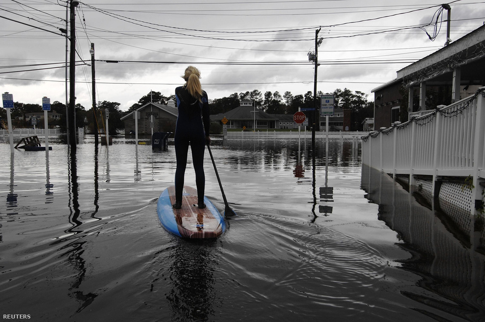 Bethany Beach, Delaware. Az összes érintett állam közül itt esett a legtöbb eső a nemzeti hurrikánközpont adatai szerint.