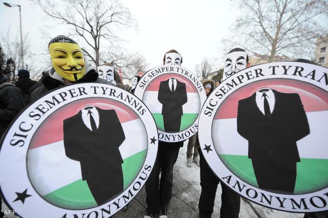 Korábbi tüntetés a netcenzúra ellen