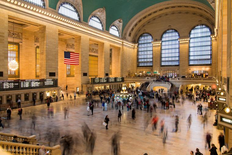Íme a Manhattanben található Grand Central Terminal, a világ egyik legnagyobb pályaudvara