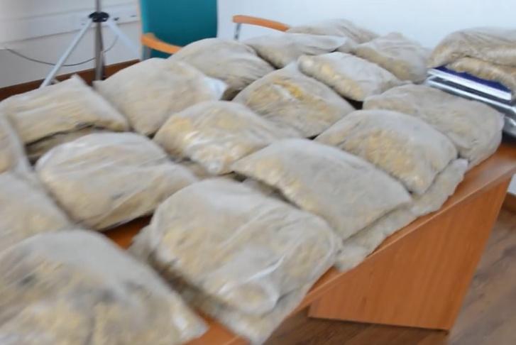 A lefoglalt 35 kg adózatlan dohány
