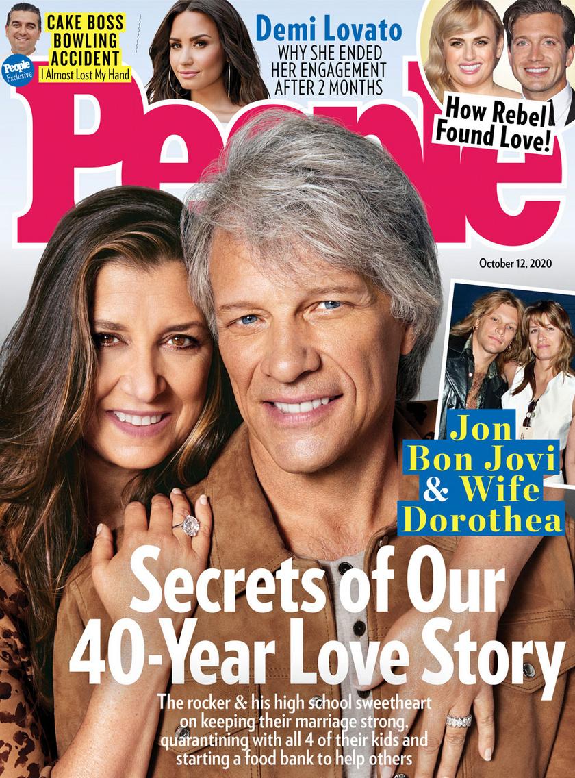 Jon Bon Jovi és felesége a People magazin 2020. októberi számának címlapjára került.