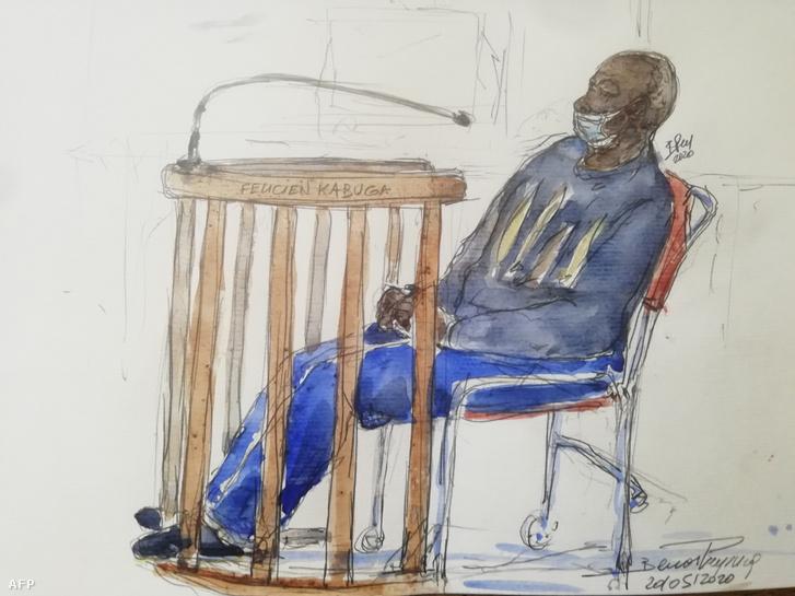 Félicien Kabuga a bíróságon 2020. május 20-án