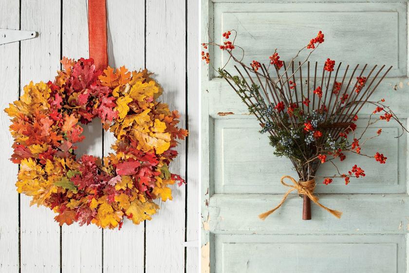 8 gyönyörű, őszi ajtódísz kétbalkezeseknek is: így készíts szépet egyszerűen a bejáratra