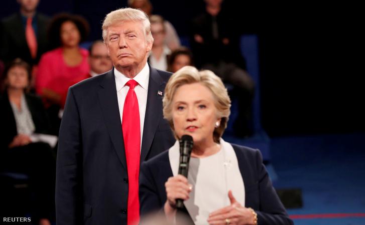 Hillary Clinton és Donald Trump 2016-os elnöki vitán Washingtonban