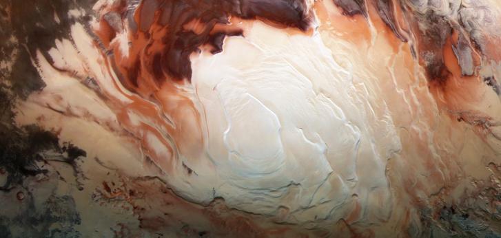 A Mars dél sarka / forrás: ESA