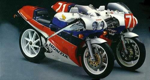 Honda RC30 utcai és versenymotor