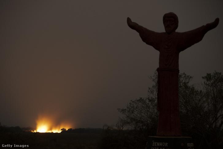 Tűz a Pantanal mocsárvidéken 2020. szeptember 26-án
