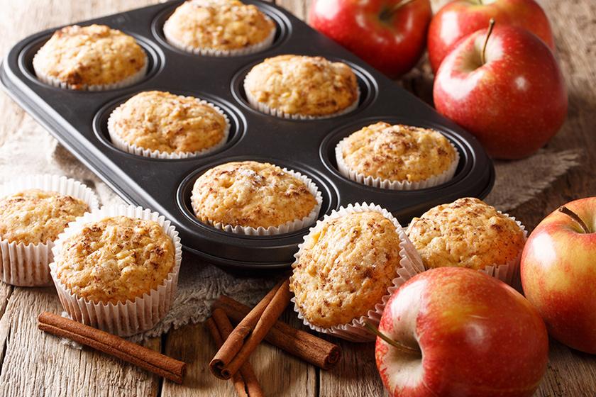 Isteni almás muffin pillanatok alatt – Cukor helyett méz kerül a tésztájába