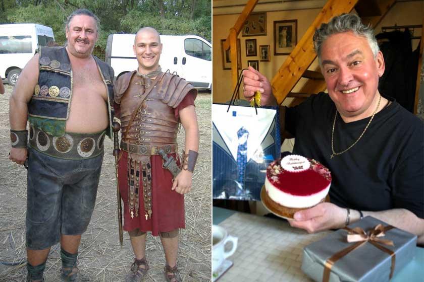 A bal oldali kép 2012-ben készült róla, míg a jobb 2020 márciusában 56. születésnapján.