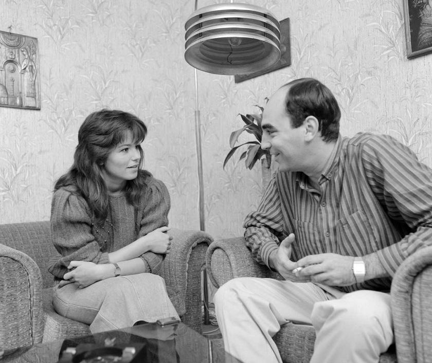 Ivancsics Ilona és Kulka János (Mágenheim Ádám) a Szomszédok forgatásán 1987 szeptemberében.