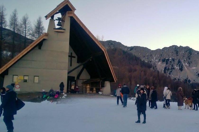 A Szent Anna-kápolna 1700 méteres magasságban.