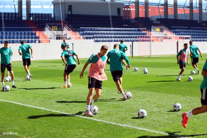 A magyar labdarúgó-válogatott edzése szeptemberben