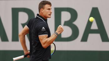 Újabb győzelem, Fucsovics már nyolcaddöntős a Roland Garroson