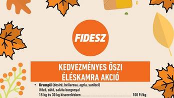 Akciós zöldséggel kampányol a Fidesz Tiszaújvárosban