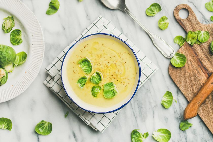 Forró, tejszínes kelbimbókrémleves: sült zöldségből a legfinomabb
