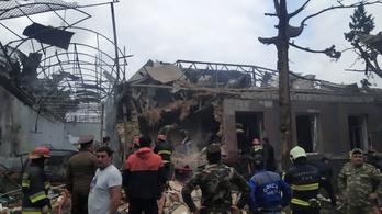 Örmény támadás érte a második legnépesebb azeri várost