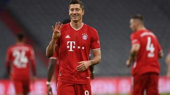 Lewandowski mesternégyesével nyert a Bayern a Hertha ellen