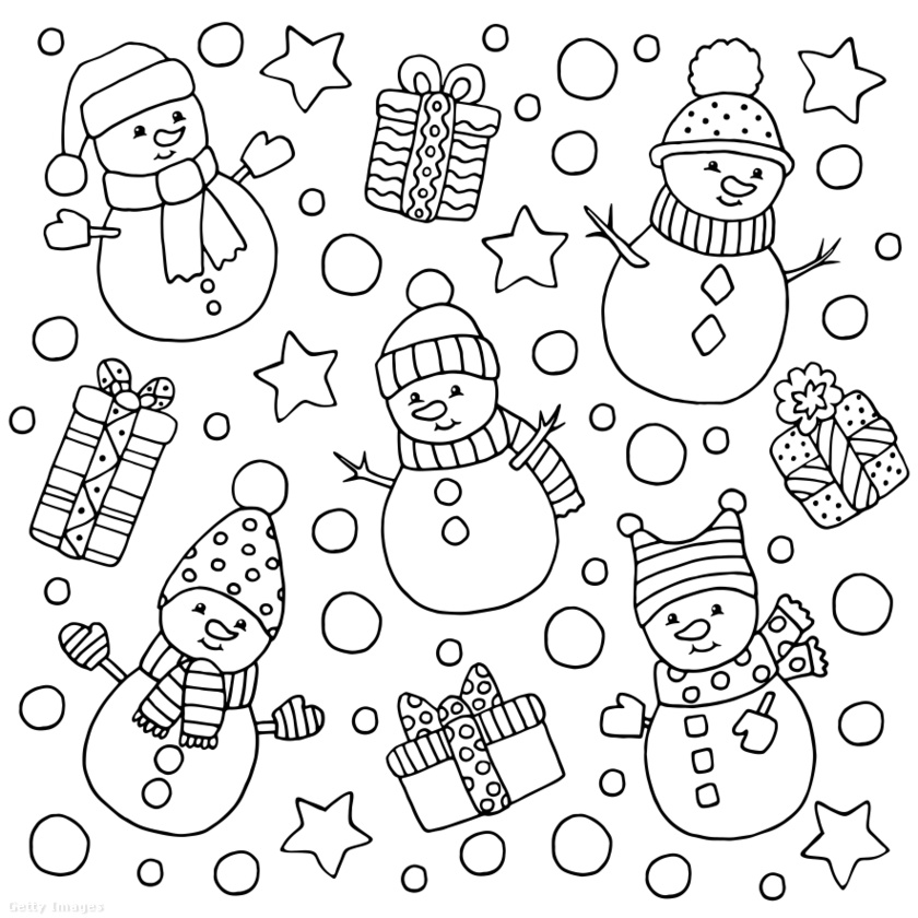 Hogyan öltöztetnétek fel ezeket a kedves hóemberkéket?
