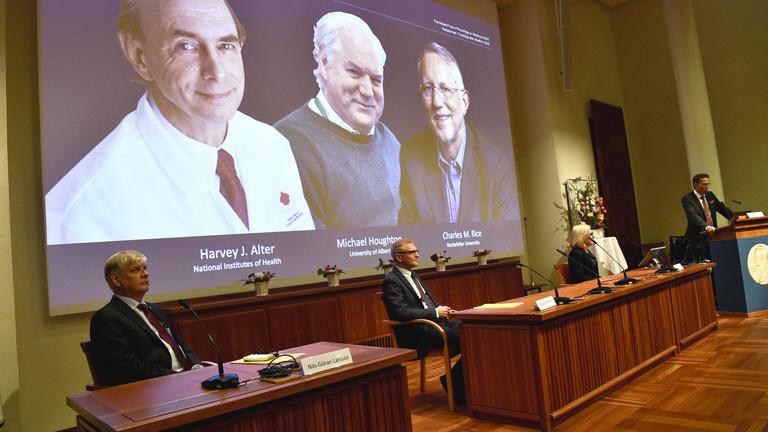 Orvosi Nobel-díjat kaptak a hepatitis C-vírus felfedezői