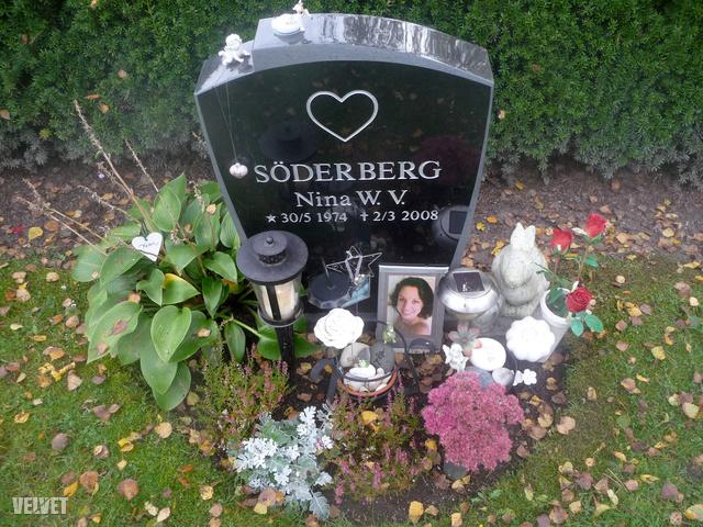 Egy tipikus skandináv sír, kereszt helyett szívvel