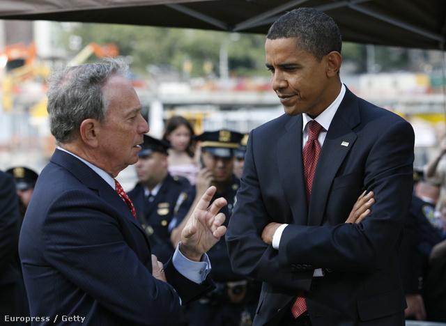 Michael Bloomberg és Barack Obama
