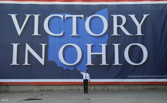 Mitt Romney és egy óriásplakát