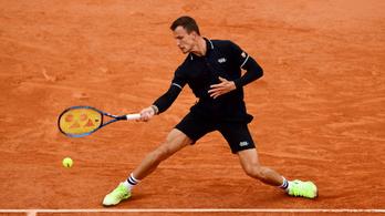 Fucsovics nagy csatában kikapott a Garros nyolcaddöntőjében