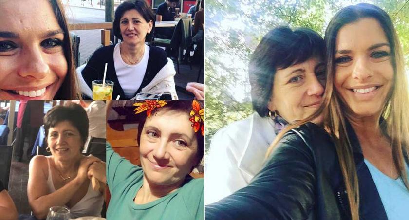 Dér Heni a fotómontázzsal köszöntötte édesanyját annak 55. születésnapján. A jobb oldali kép 2016-ban készült róluk.