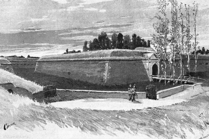Cserna Károly rajza az aradi vesztőhelyről, a Vasárnapi Ujság illusztrációja, 1890