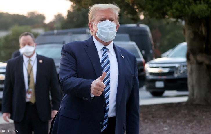 Donald Trump, miután visszatért Washingtonba a marylandi Bethesda Kórházból