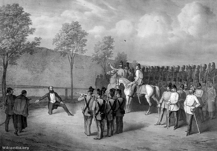 Batthány Lajos kivégzése