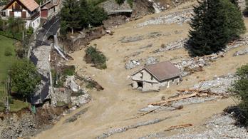A sírokból is mosott ki tetemeket az áradás a francia-olasz határnál
