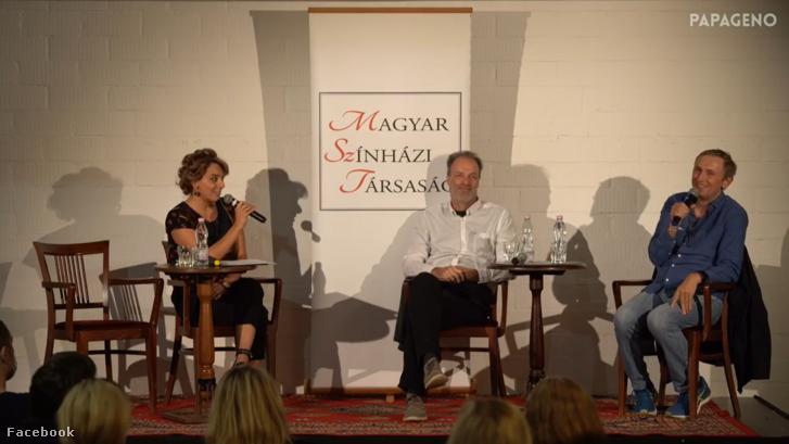 Képernyőkép az élő vitából
