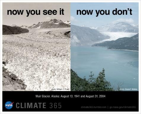 1941–2004 – A gleccserek eltűnése is jelzi a Föld melegedését