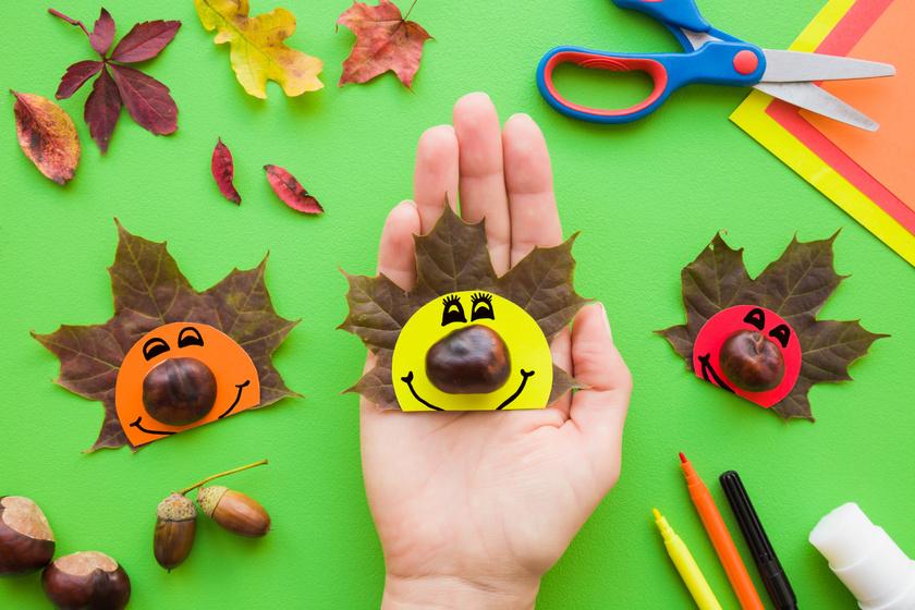 10 igazán aranyos dolog gesztenyéből és falevélből, ami órákra leköti a gyereket - Készítsétek el őket együtt!