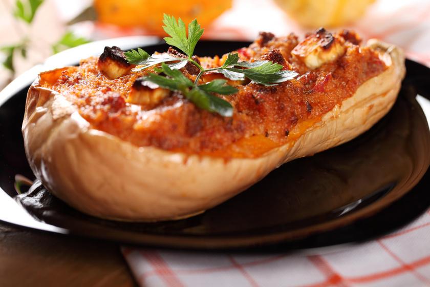 Sütőben sült, darált hússal töltött tök: laktató és nagyon finom