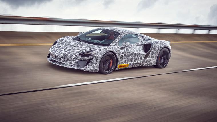 Gyári kémfotókon az első hibrid McLaren