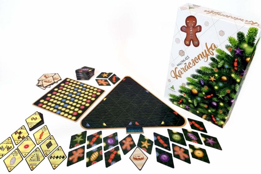 Nagy Balázs Karácsonyfa című társasjátéka a legünnepibb a válogatásban, a résztvevők a saját karácsonyfáikat díszítgetik, miközben minél több győzelmi pontot próbálnak bezsebelni. Tízéves kor felett, 2-4 játékosnak ajánlják, de talán négy fővel a legélvezetesebb.
