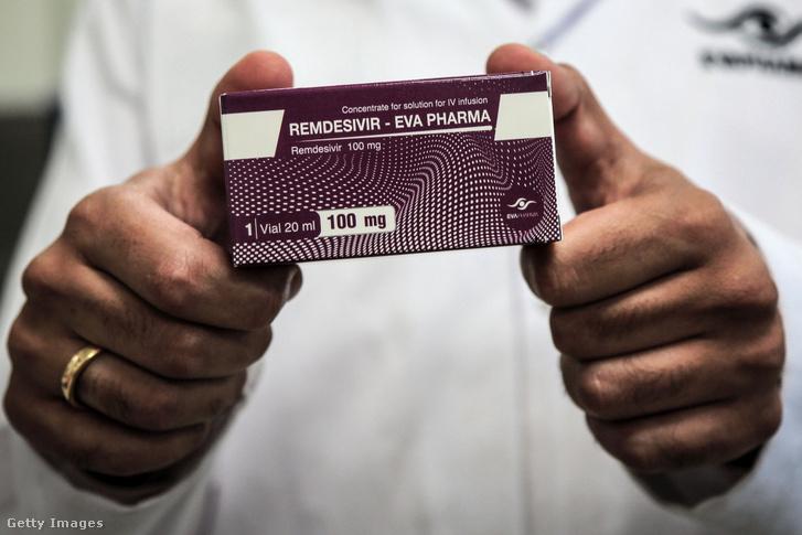 A Remdesivir nevű gyógyszer Egyiptomban 2020. június 29-én.