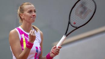 Kvitová simán győzött, elődöntős a Roland Garroson