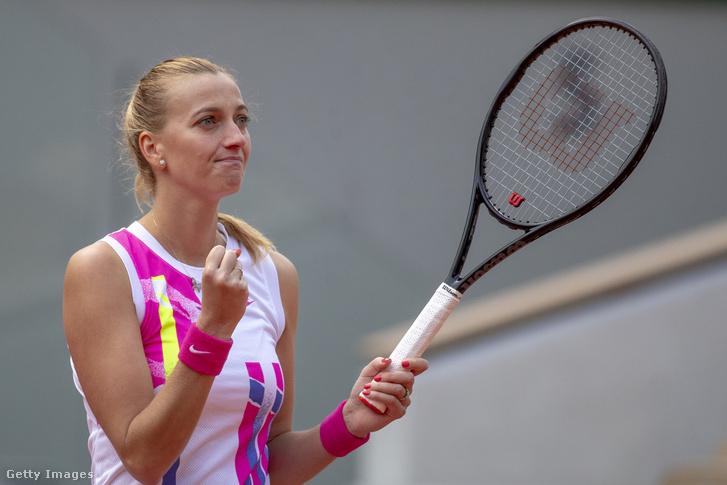 Petra Kvitová öröme, már elődöntős a Roland Garroson