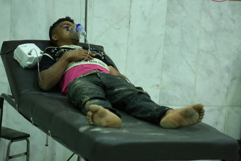 A 2017-es damaszkuszi vegyi támadás egy gyermek túlélője.