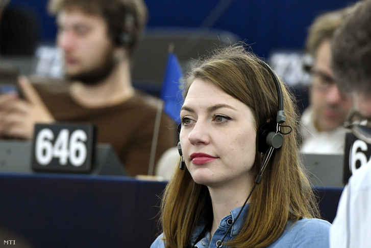 Donáth Anna Júlia a Momentum képviselője az Európai Parlament (EP) plenáris ülésén Strasbourgban