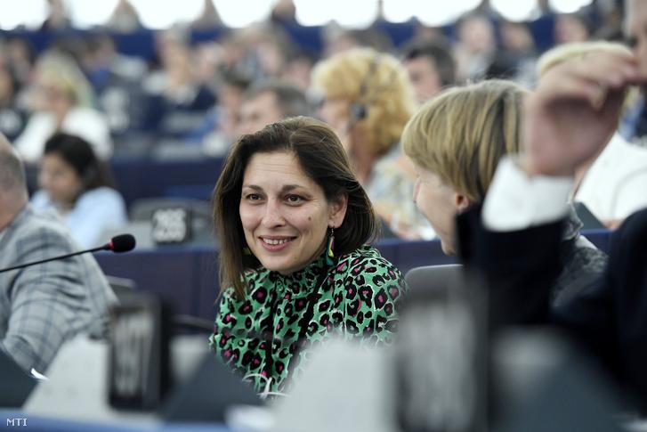 Járóka Lívia a Fidesz-KDNP képviselője az Európai Parlament plenáris ülésén Strasbourgban