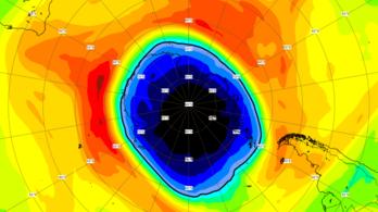 Óriási ózonlyukat találtak az Antarktisz felett
